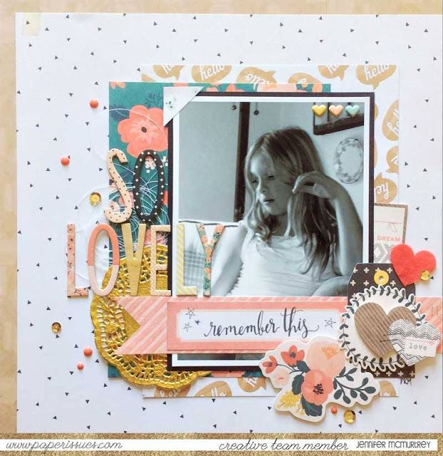 Paper Issues Product Spotlight: Crate Paper Wonder layout by Jennifer McMurtrey