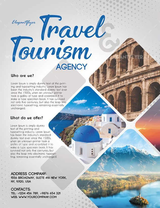 Tour Package Flyer Templates