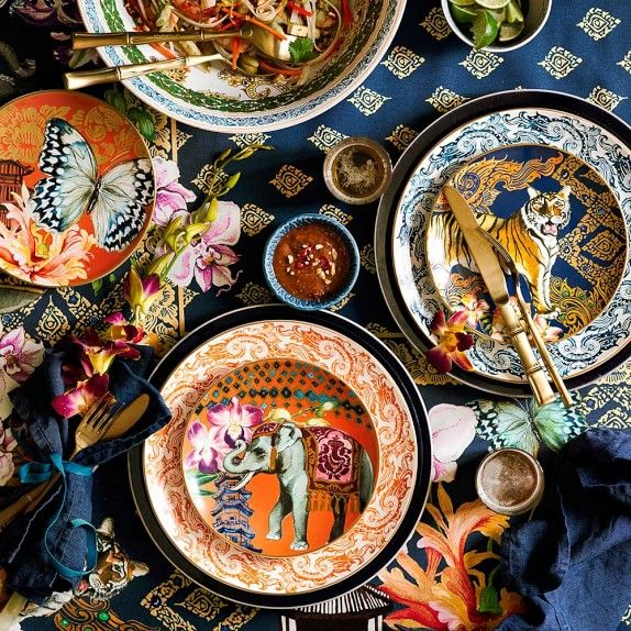 Palace Thai Salad Plates Set of 4. Find this Pin and more on Asian Inspired Dinnerware ... & 8 best Asian Inspired Dinnerware images on Pinterest | Plate sets ...