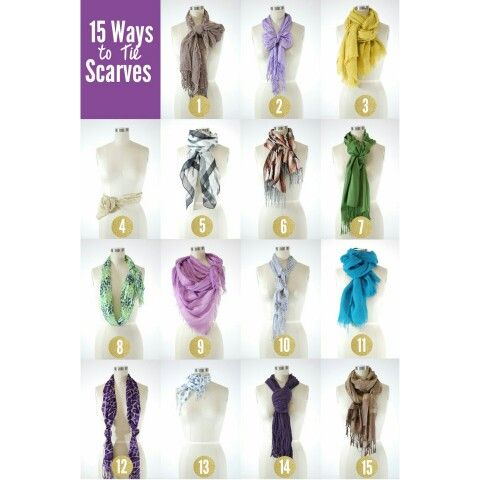 Fun ways to wear a scarf! Check out mishpish.com for a selection on scarves. Source: campus collection #waystowear #wear #scarf #scarves
