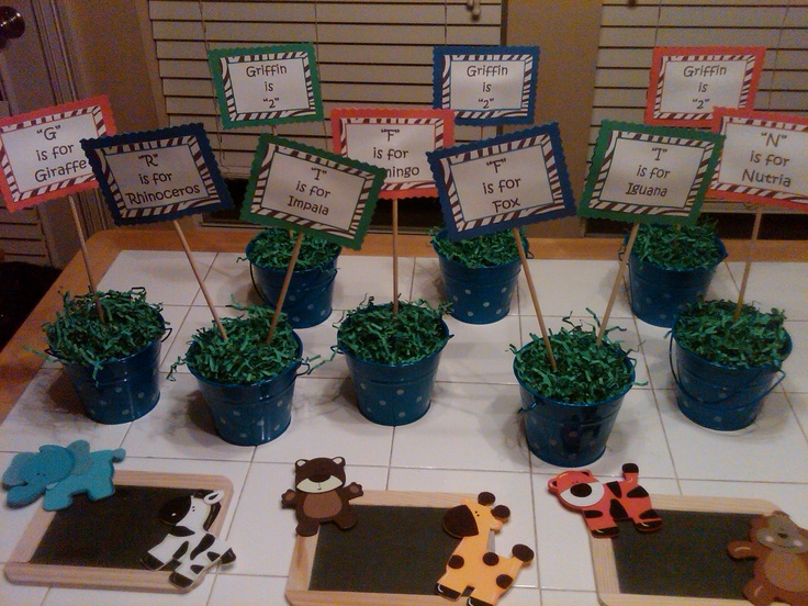 Animal Themed Party For Kids Centerpieces We Did At
