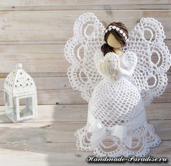 Ажурные ангелы крючком (4)