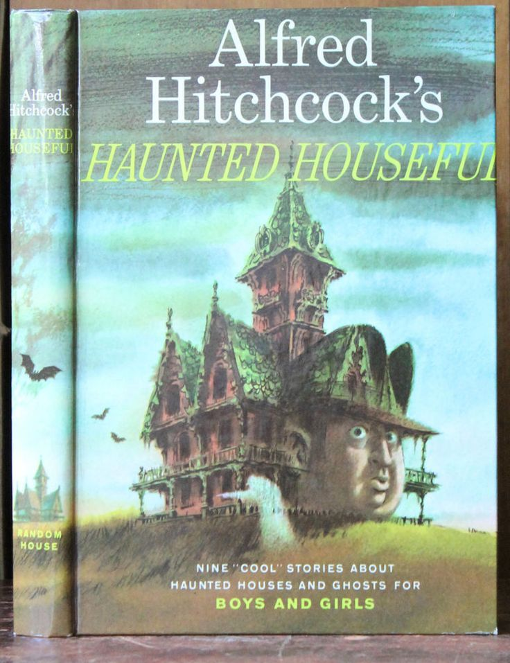 """Alfred Hitchcock's """"Haunted Houseful"""" Nine """"Cool"""" Stories About Haunted Houses & Ghosts For Boys & Girls. With numerous single color illustrations, some full page. In excellent, like new condition.   eBay!"""