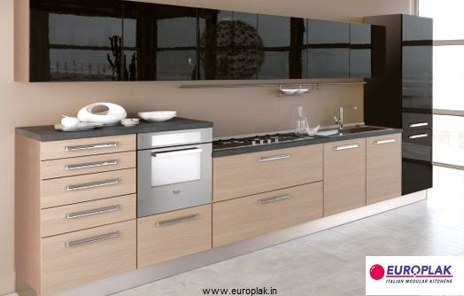 Casual Pratico Modular Kitchen For more details Visit : http://www.europlak.in/
