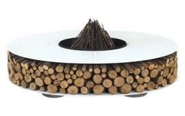 New Zero Fire Pit  Contemporary, Industrial, Organic, Rustic  Folk, Metal, Natural Material, Fireplace Mantels  Accessory by Design Collectif