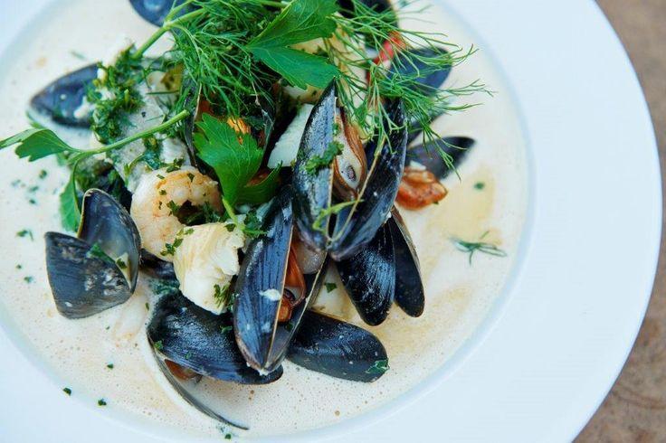 Fiskesuppe fra vores restaurant