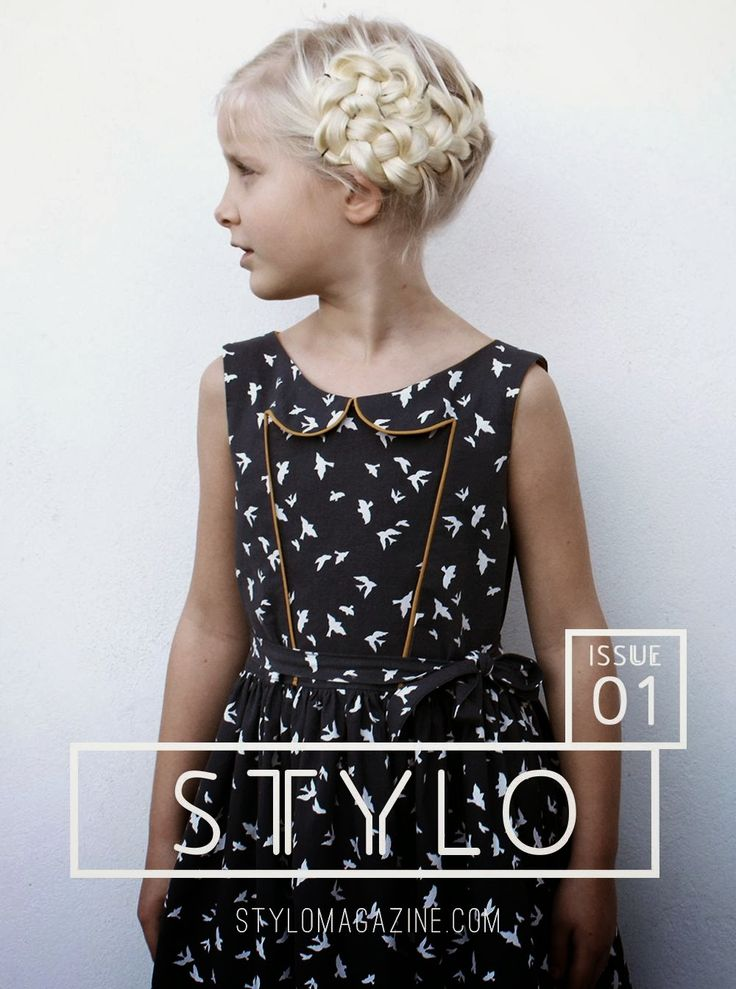 STYLO Magazine -Awesome Online mag for Children's Sewing - Each Photo gives reference for Pattern and Fabric used - ACE!