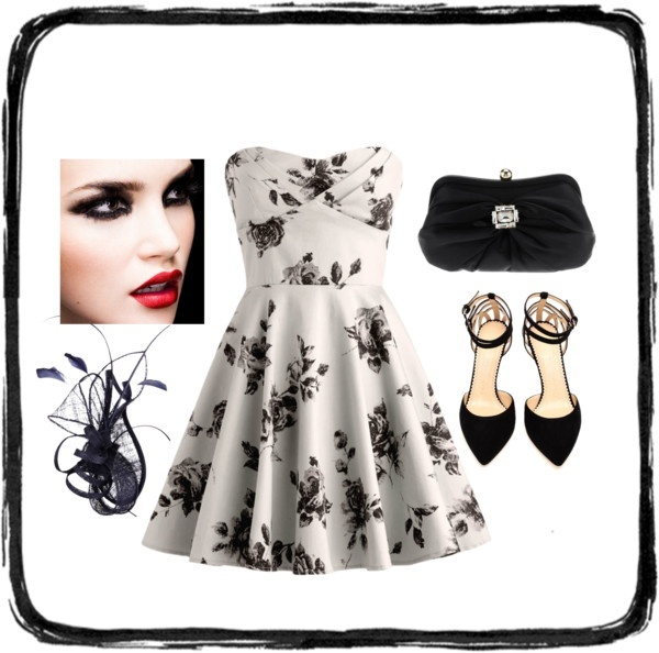 """black and white"" by homeyyomey on Polyvore"