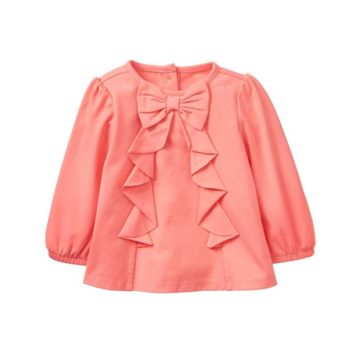 Baby Coral Bow Top by Gymboree