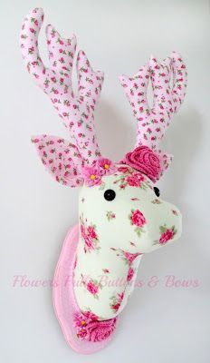 Image result for fabric deer head pattern