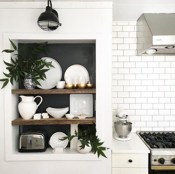 white kitchen, perfectly styled (Nesting Place)