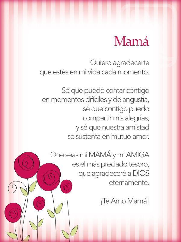 Dia De La Madre Mama Pinterest Mama Frases Para Madres Y