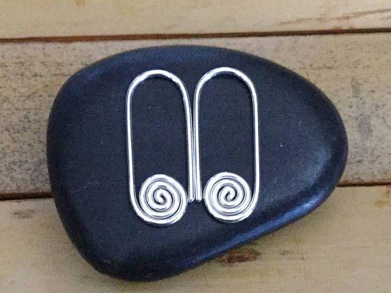 Argentium STERLING SILVER Hoops  Small Oval Hoop Earrings