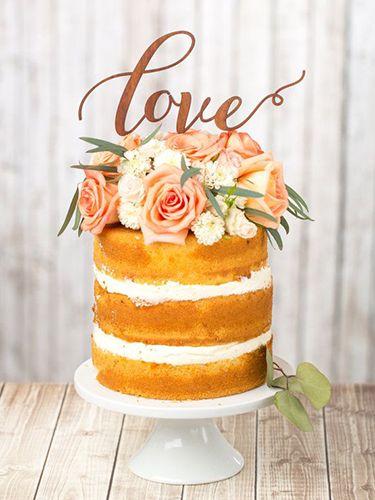 Naked Wedding Cakes: pasteles de boda al desnudo