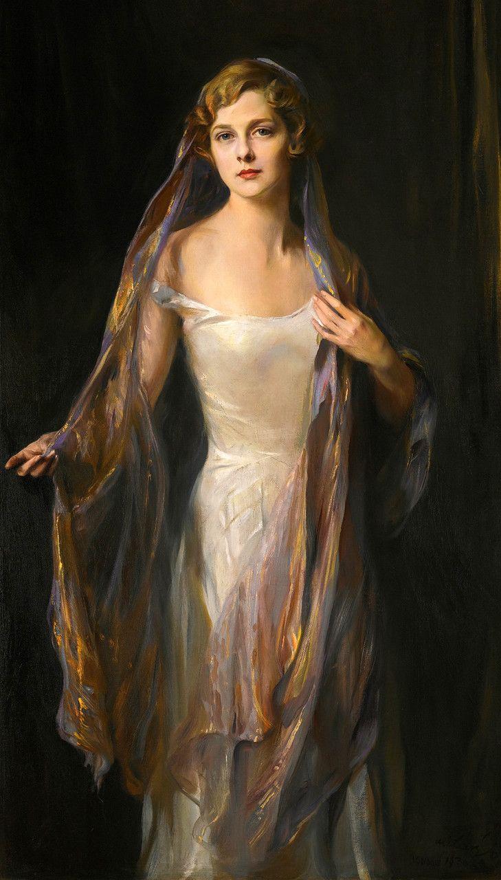 """Portrait of Edith Hope Iselin,"" 1930 -- by Philip Alexius de Laszlo (Hungarian-born British 1869-1937) Source: loumargi"