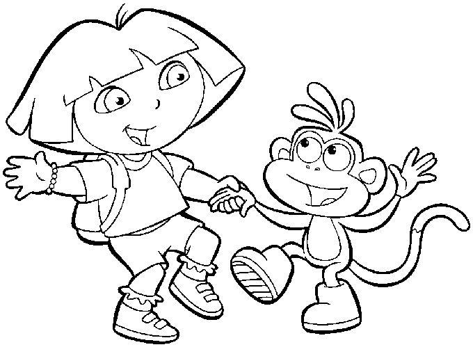 Coloriage à Imprimer Dora