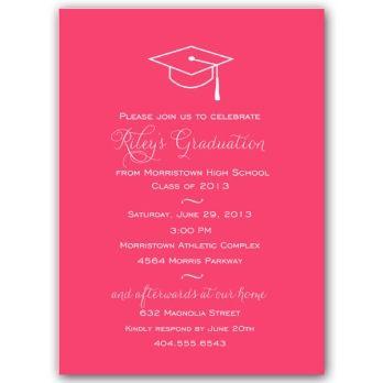 55 best Graduation Announcements images on Pinterest Graduation - fresh invitation wording for trunk party