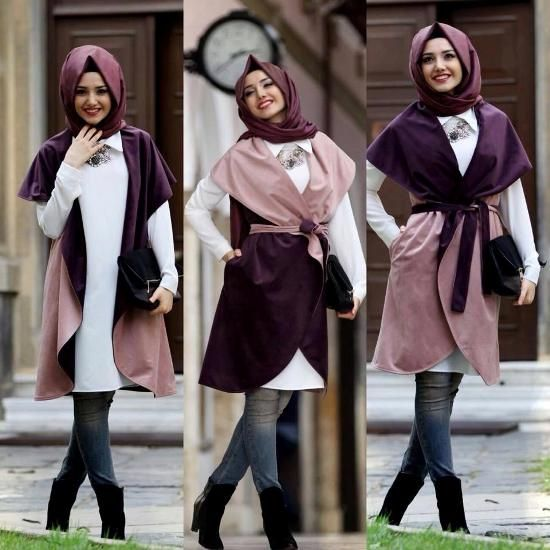 coat two faces hijab, Street styles hijab looks www.justtrendygir…