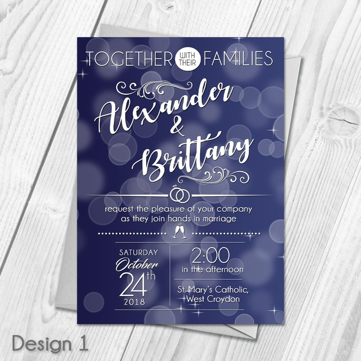 Digital Wedding Invites Day u0026 Evening