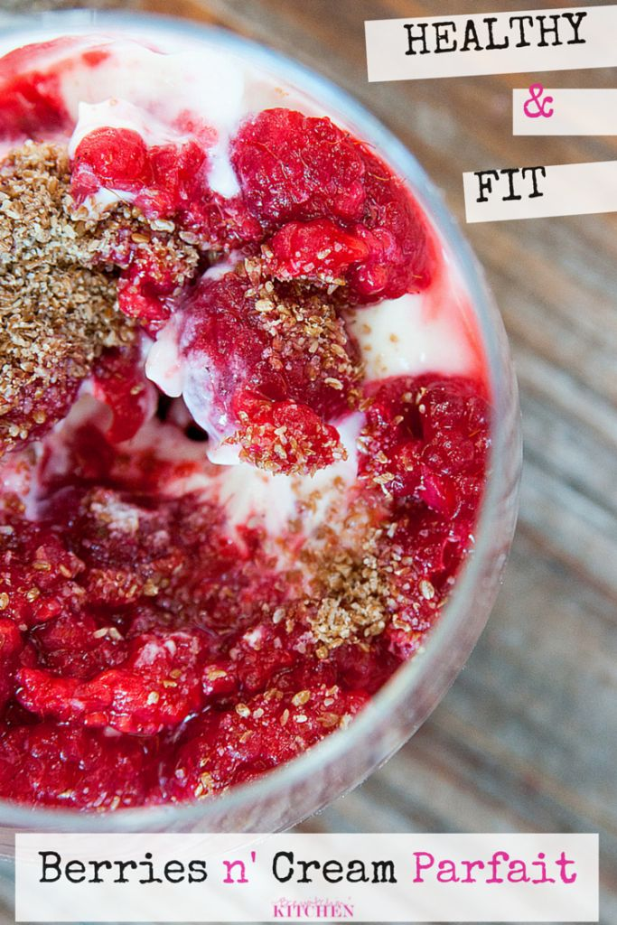 Berries and Cream Parfait - Healthy dessert recipes that provides protein, fiber and keeps you full. You won't believe it's a healthy recipe, especially with how easy it is to make it. | The Bewitchin' Kitchen