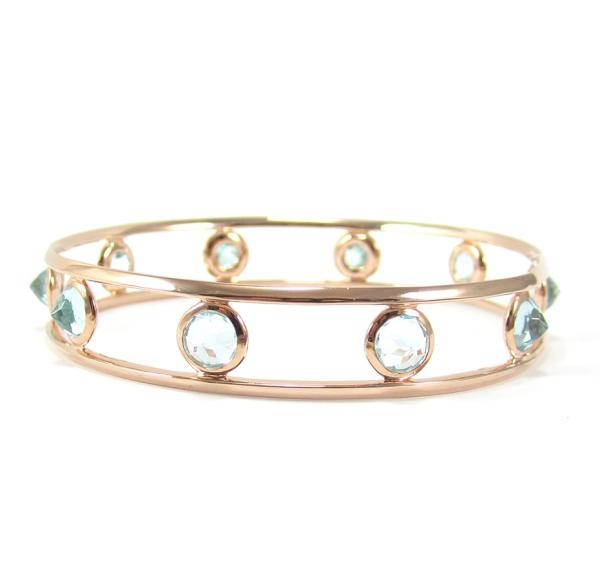 Rose gold and blue topaz #bracelet by Katie Rowland