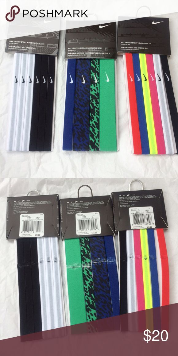 NWT Nike headband bundle NWT never been worn Nike headbands. This listing is for all 3 packs shown! Originally 35$ Nike Accessories Hair Accessories