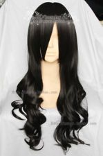 Maid Cosplay Long Black Curly Wig