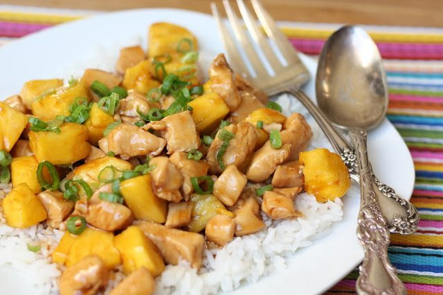 Teriyaki Chicken with Pineapple recipe by Barefeet In The Kitchen
