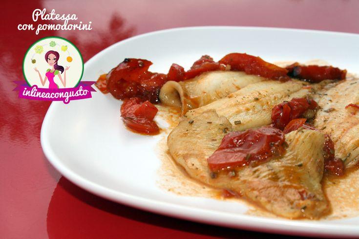 Filetti di platessa con pomodorini