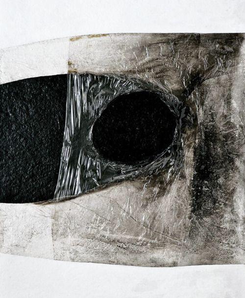 "Alberto Burri - ""Blanco Plastica (White Plastic)"", 1966"