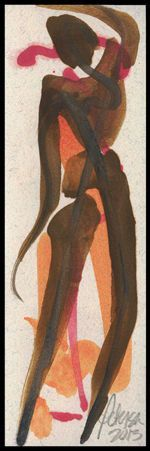 Figures No 13 The Hidden Dancer by Cathy Peterson 8x10 FINE ART PRINT = SIGNED #MODERNIMPRESSIONISTEXPRESSIONISM