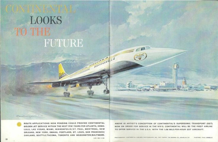 Continental airlines sst advert continental airlines