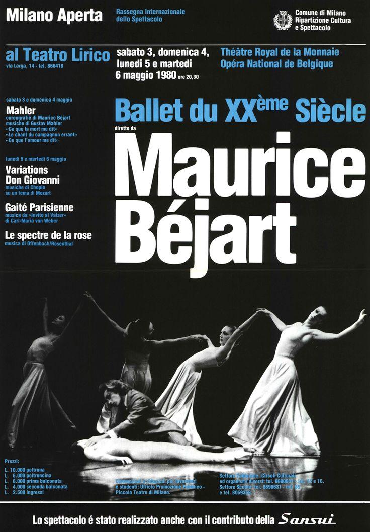 1979/80 Ballet du XXème siècle diretto da Maurice Béjart, Milano Aperta, Teatro Lirico