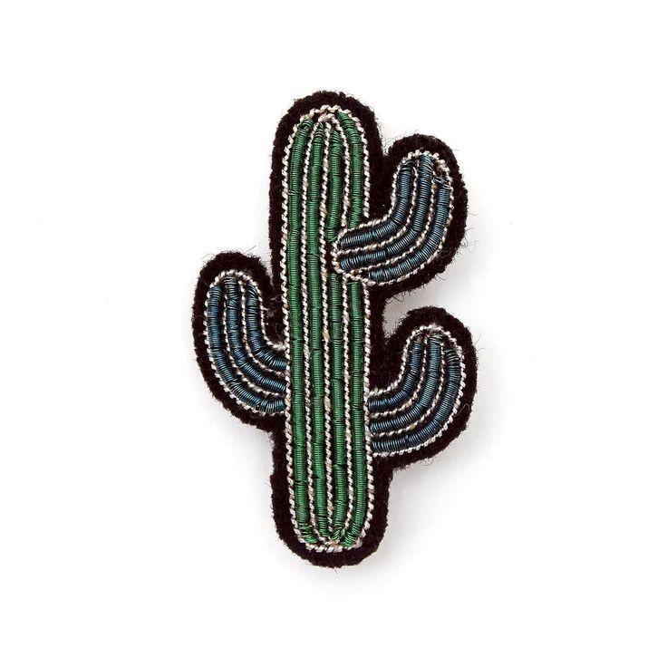 Hand embroidered Cactus Brooch anyone? @maconetlesquoy #comingsoon to SMUG…