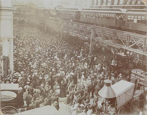 Siegel-Cooper Company department store opening day, 1896 - NYC