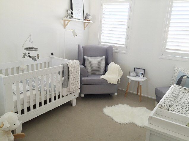 Annau0027s Nursery Is Neutral Perfection! So Many Beautiful Details. Our  Cement/white Georgetown · Nursery RockerRocking ChairsBaby ...