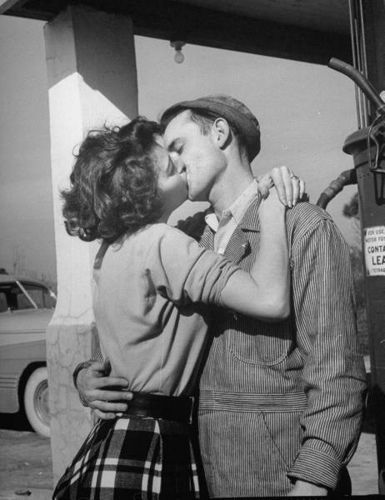 1949 kiss by myvintagelove, via Flickr