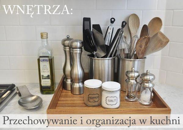 pretty kitchen counter idea. Wnętrza: Przechowywanie i organizacja w kuchni | Sen Mai