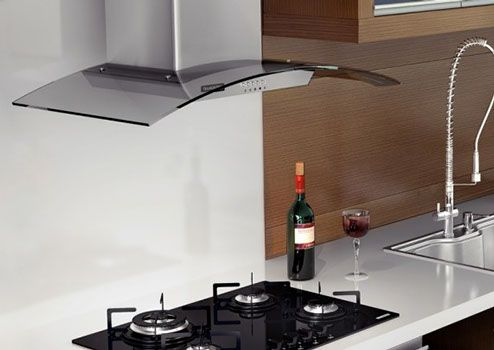 Tramontina moderna campana de pared vetro 90 hechas de acero inoxidable para cocinas de hasta - Campanas de cocina ...