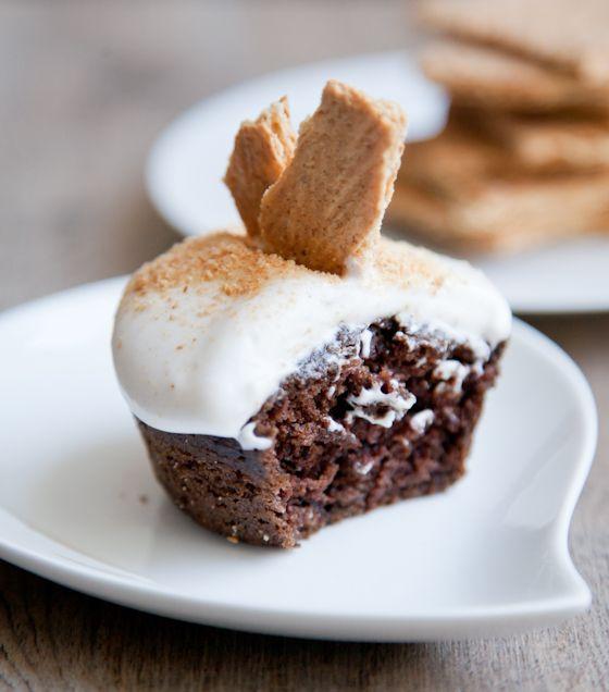 smore's cupcakes (non-dairy)