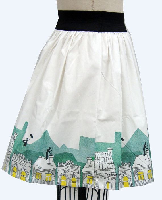 Mary Poppins Skirt-same textile design used as a fashion textile