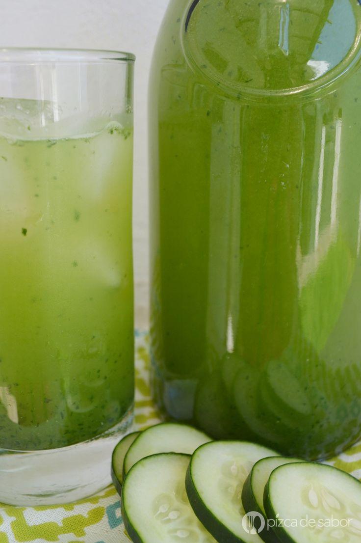 Cómo hacer agua de pepino (fácil & deliciosa) - Pizca de Sabor