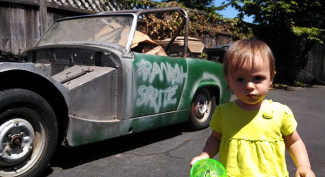 Hah...?? Gadis 14 Bulan Beli Austin-Healey Sprite 1962?