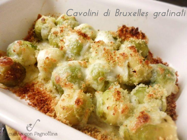 Cavolini di Bruxelles gratinati, semplici e gustosi.