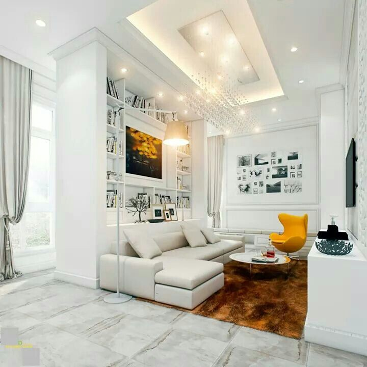 Living Room:Fascinating Urban Living Rooms: Cozy And Stylish Design White  Ultra Modern Design White Sectional Sofa Large White Shelving Used As A  Partition ...