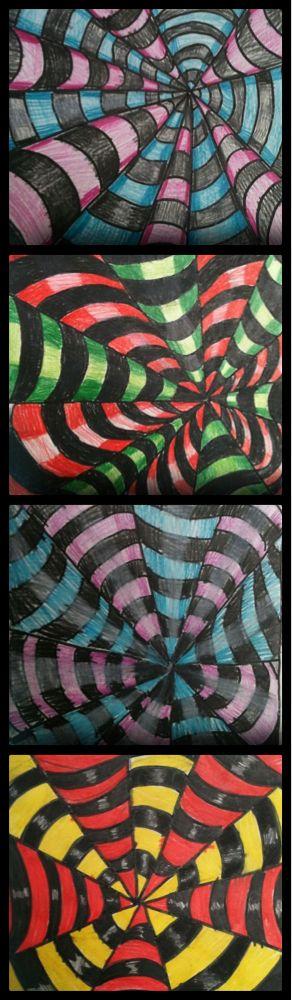 Fru Billedkunst - glimt fra min billedkunstundervisning: Op art