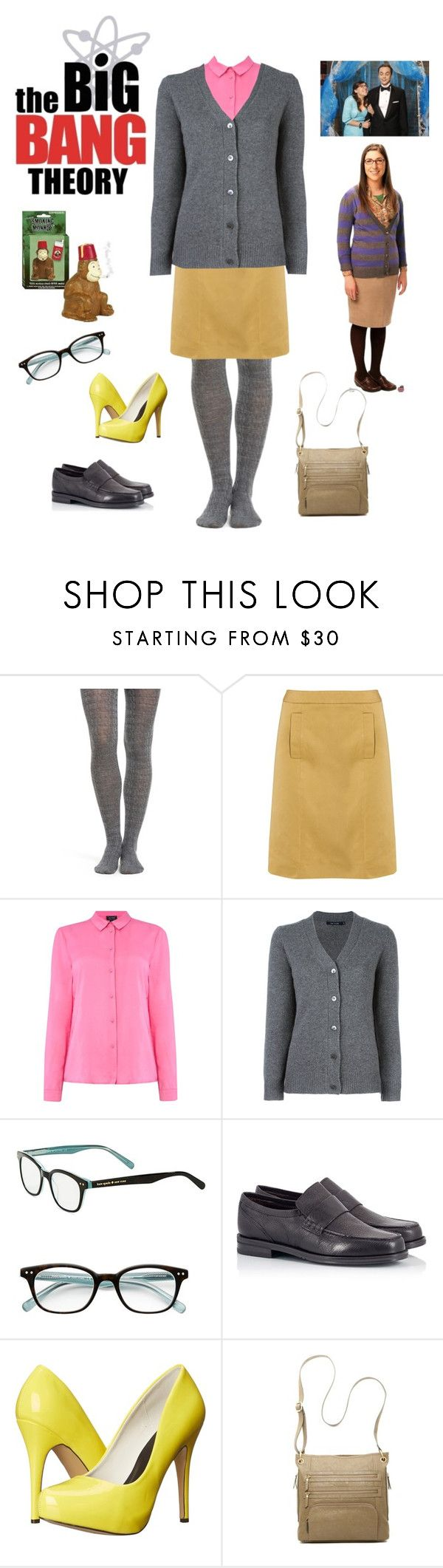 """Halloween Costume Amy Farrah Fowler"" by onetrakmnd ❤ liked on Polyvore featuring Smartwool, Bottega Veneta, Armani Jeans, Sofie D'hoore, Kate Spade, Theory, Fratelli Karida, Michael Antonio and Bueno"