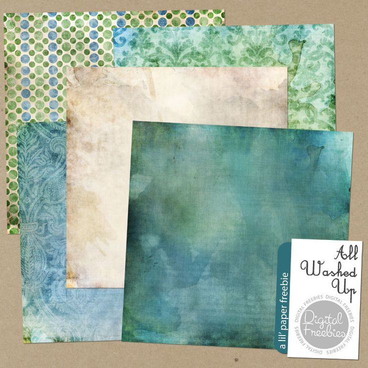 All Washed Up - Digital Scrapbooking Freebie