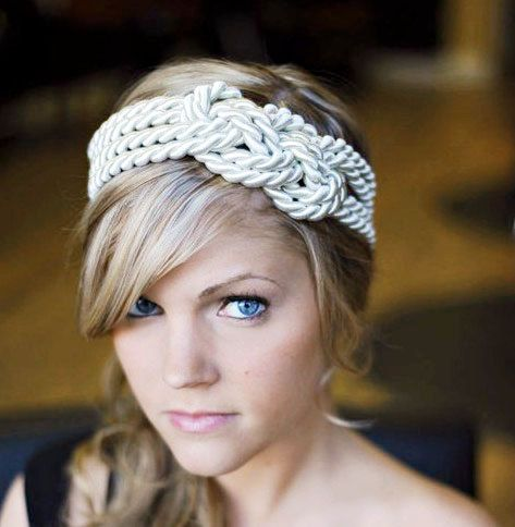 Sailor the lux way!: Knot Headbands, Nautical Wedding, Summer Outfit, Shower Cap, Beaches Theme, Girls Hairstyles, Sailors Knot, Hair Style, Hair Accessories
