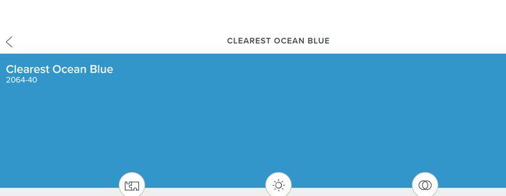 Clearest Ocean Blue---Benj. Moore
